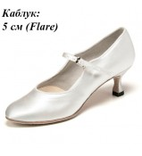 Dance Me Обувь женская для стандарта 507, белый сатин