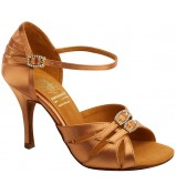 Supadance Обувь женская для латины 1057, Dark Tan Satin