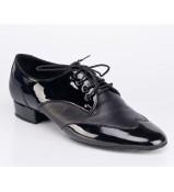 Galex Обувь для мальчика Пино для стандарта, черный лак/кожа