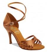 Supadance Обувь женская для латины 1166, Dark Tan Satin