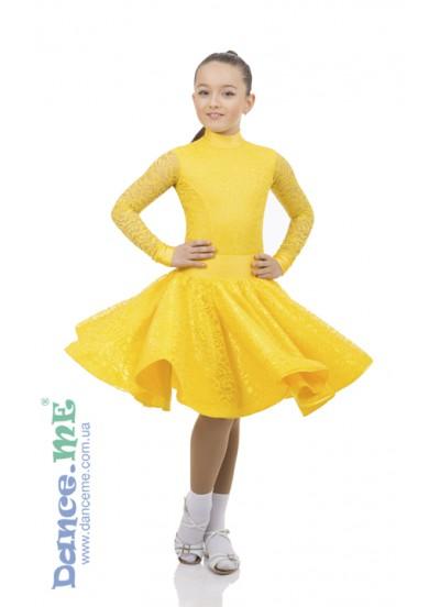 SALE Бейсик 198-274-11 Dance.me, Украина, Бифлекс+гипюр, Золотой