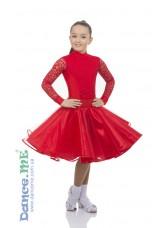 Бейсик 417-180-268-11 Dance.me, Украина, Бифлекс+гипюр, Красный