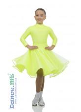 Бейсик 416-180 Dance.me, Украина, Бифлекс+гипюр, Лимонный №21