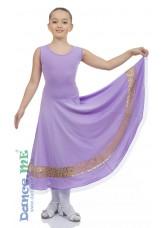 Платье Стандарт ПС170-Кри-11 Dance.me, Украина, Масло+гипюр, Сиреневый