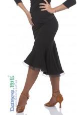 Юбка женска латина ЮЛ376-14 Dance.me, Украина, Масло, Черный