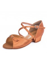 Обувь блок-каблук 30261 Dance.me, Украина, БК, Кедр, Сатин