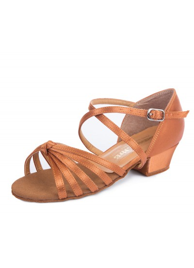 Обувь блок-каблук 30233 Dance.me, Украина, БК, Кедр, Сатин