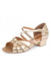 Обувь блок-каблук 304 Dance.me, Украина, БК, Золотой, кожзам
