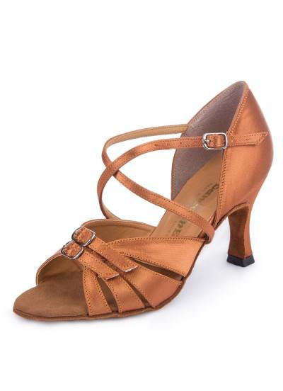 Обувь женская латина 4210 Dance.me, Украина, Lt, 7, Fl, Кедр, Сатин