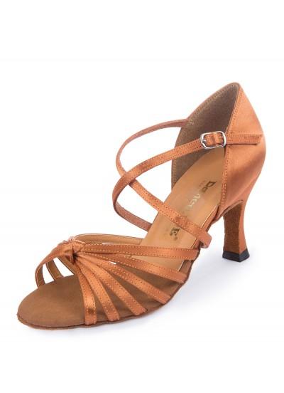 Обувь женская латина 4200 Dance.me, Украина, Lt,  Кедр, Satine