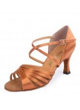 Обувь женская латина 37014 Dance.me, Украина, Lt, 7, Fl, Кедр, Satine