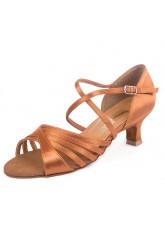 Обувь женская латина 37014 Dance.me, Украина, Lt, 5, Cuban, Кедр, Satine