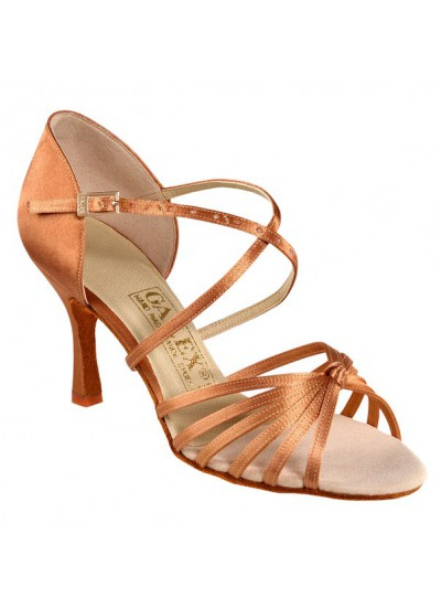 Galex Обувь женская для латины Ирина, кедр сатин