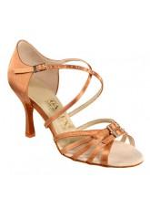 Galex Обувь женская для латины Лерон, кедр сатин