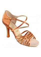 Galex Обувь женская для латины Лилия, кедр сатин