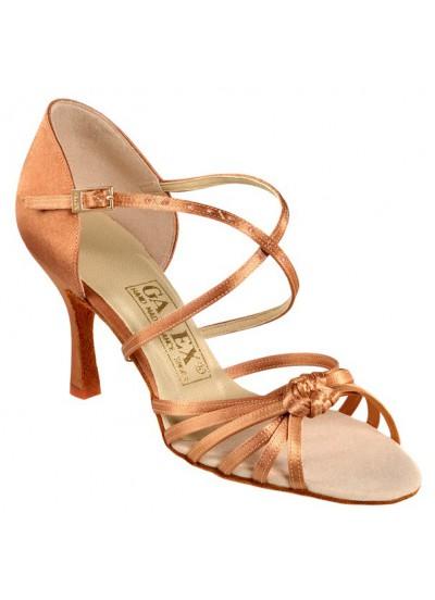 Galex Обувь женская для латины Стелла, кедр сатин