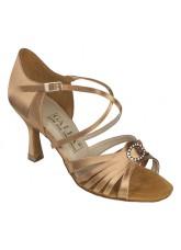 Galex Обувь женская для латины Алеся, кедр сатин