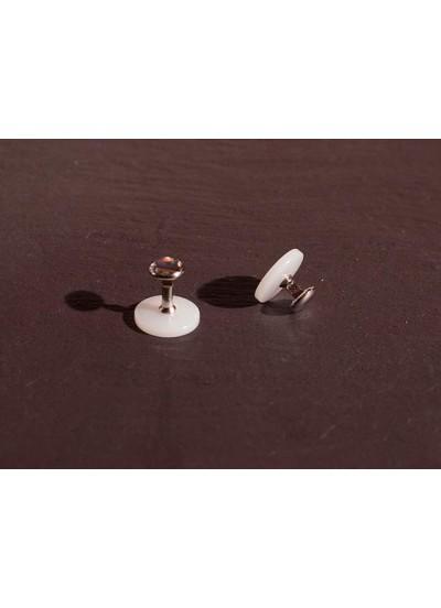 Chrisanne Clover Пуговицы для пластикового воротничка серебро
