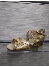 Dance Me Обувь для девочки 2004, золото, кожа искусственная