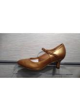 Dance Me Обувь женская для стандарта 4104, загар кожа