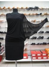 Платье Латина ПЛ240-6 женское Dance.me, масло / сетка, черный