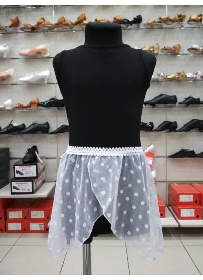 Dance Me Юбка-хитон детский UH59-6 сетка, резинка, кружево, белый