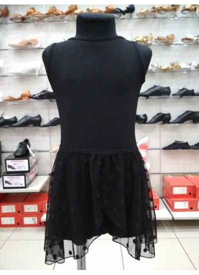 Dance Me Юбка-хитон детский UH59-6 сетка, резинка, кружево, черный