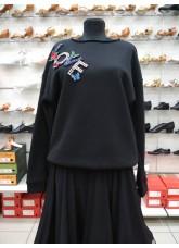 Свитшот женский СВ466-15 DANCEME, хлопок, черный