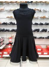 Платье Латина ПЛ334-11 Dance.me, Украина, Масло+гипюр, Черный