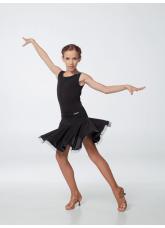 Блуза БЛ398-8 Dance.me, Украина, Масло+сетка, Черный