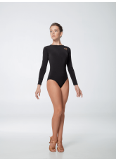 Dance Me Купальник женский 446ДР-15, рукав длинный, масло, черный