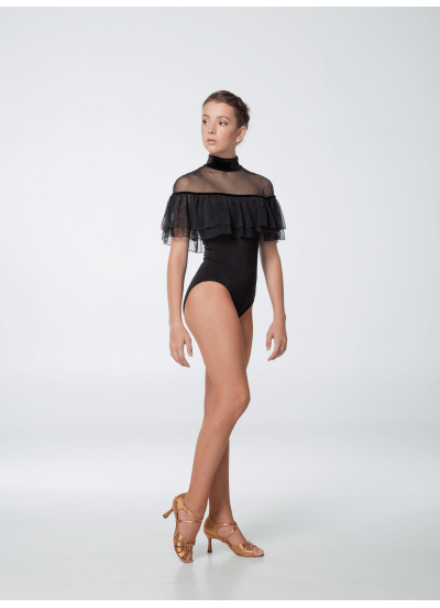 Женский купальник Dance Me 453, масло+сетка+бархат, черный