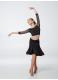 Dance.me Топ детский 469-17, масло/сетка, Черный