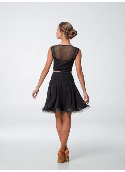 Dance.me Топ женский 501, масло/сетка, черный
