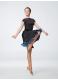 Юбка женская Латина ЮЛ402-14-Цв Dance.me, масло+бархат, черный