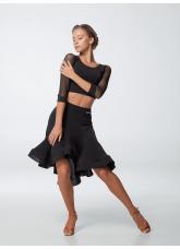 Dance Me Юбка для латины ЮЛ468-14 женская, масло, черный