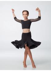 Dance Me Юбка для девочки ЮЛ468-14, масло, черный