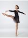 Dance Me Хитон ХТ1 женский, шифон, черный, размер S