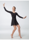 Dance Me Хитон ХТ1 женский, шифон, черный, размер М