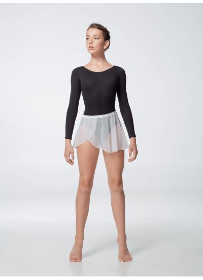 Dance Me Юбка-хитон UH59-3 женский, сетка резинка кружево, белый