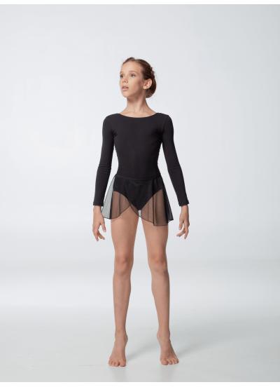 Dance Me Юбка-хитон детский UH59-3 сетка, резинка, кружево, черный