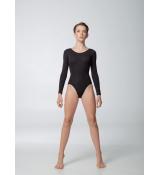 Dance Me Купальник длинный рукав K485DR, женский, хлопок, черный
