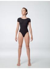 Dance Me Купальник женский K486KR, рукав короткий, хлопок, черный