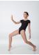 Dance Me Купальник женский K2KR, рукав короткий, хлопок, черный