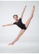 Dance Me Купальник детский 486, рукав короткий, хлопок, черный