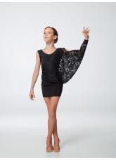 Dance Me Платье детское ПЛ240-11, масло / гипюр, черный