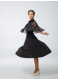 Платье женское ПС433-6 Dance.me, масло+сетка+бархат, черный