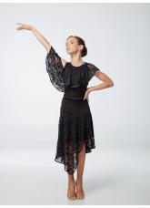 Платье детское Латина ПЛ447 Dance.me, масло+гипюр, черный