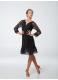 Платье женское Латина ПЛ455-11 Dance.me, масло+гипюр, Черный