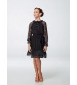 Платье детское Латина ПЛ455-11 Dance.me, масло+гипюр, черный